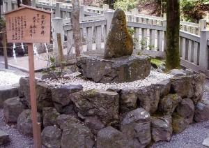 句碑 松尾芭蕉 神社 多度